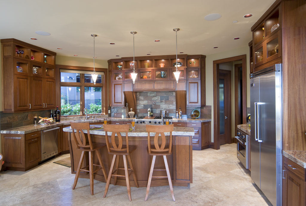 Transitional Kitchens  Tahoe Mahogany Sienna LancasterAlderPeppercornSapeleBourbon JCK CoronadoWhitePaint IslandCustomColor Icon Kitchen Design NY Remodeling